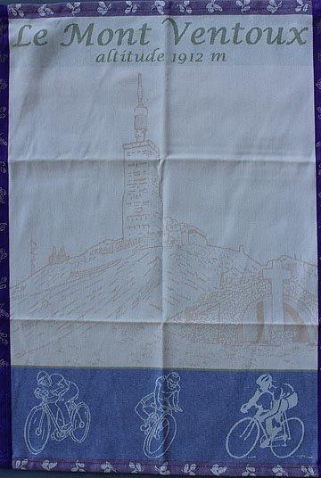 Tissage du Soleil Mont Ventoux tea towel (purple)