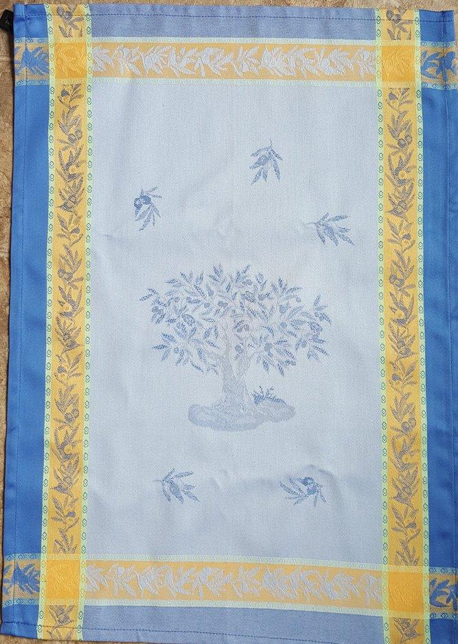 Olive Tree Tea Towel (Blue)