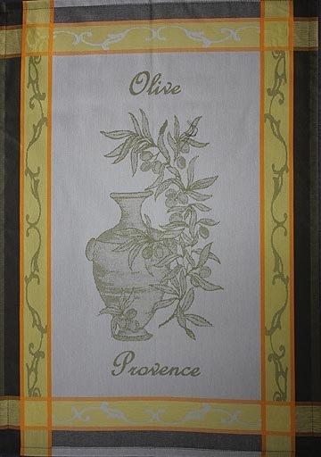Tissage du Soleil Olive Oil tea towel (green)