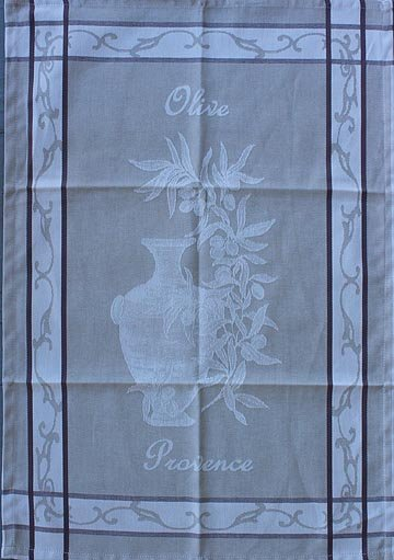Tissage du Soleil Olive Oil tea towel (tan)