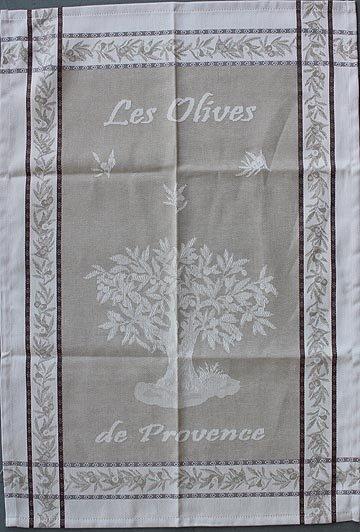 Tissage du Soleil Olive tree tea towel (tan)