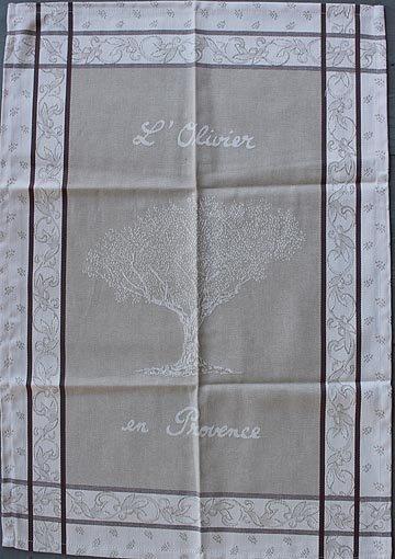 Tissage du Soleil Olivier tea towel (tan)