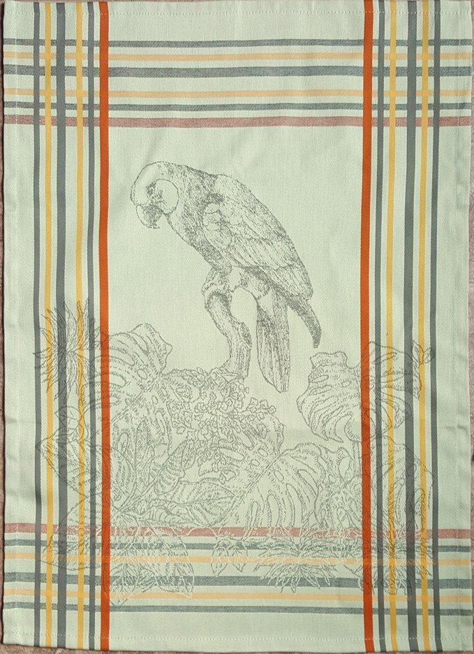 Tropical Bird Tea Towel (Green)