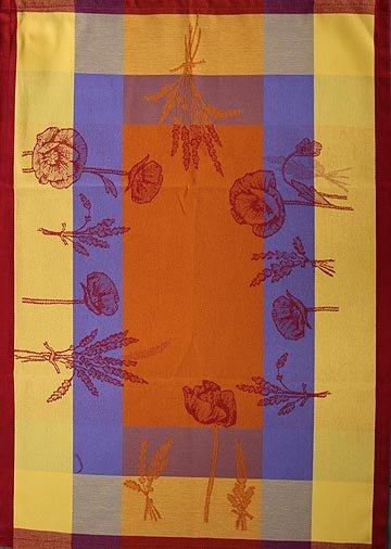 Tissage du Soleil Poppy tea towel (orange)