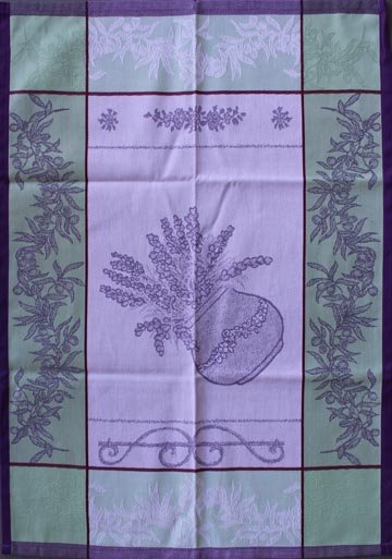 Tissage du Soleil Pots tea towel (purple)