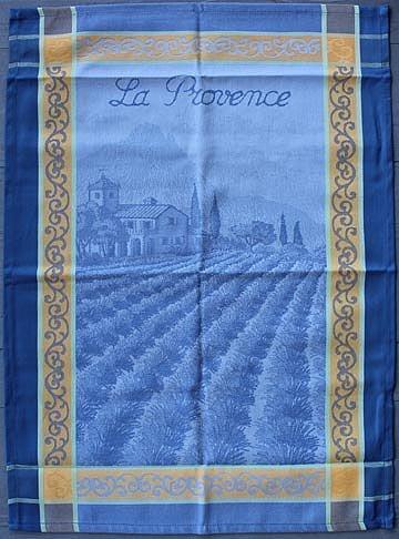 Tissage du Soleil Provence tea towel (blue)