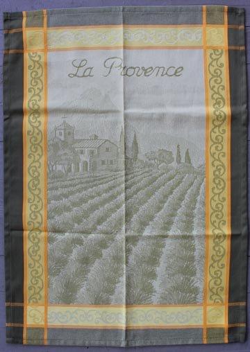 Tissage du Soleil Provence tea towel (green)