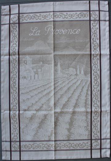 Tissage du Soleil Provence tea towel (tan)