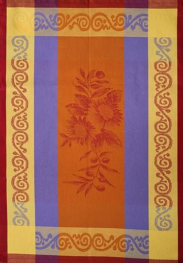 Tissage du Soleil Sunflower tea towel (orange)