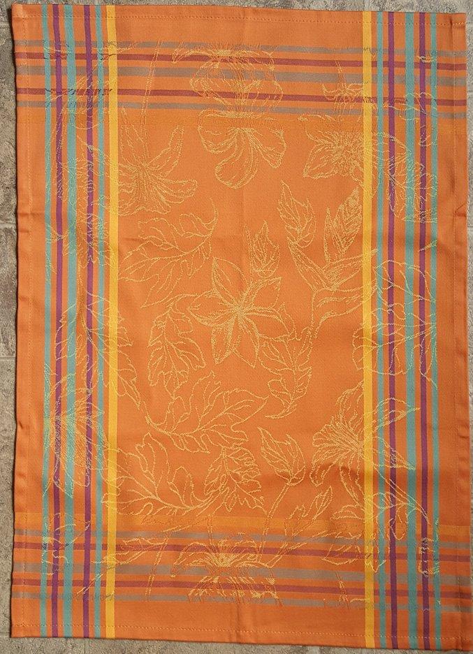 Tropical Tea Towel (Orange)