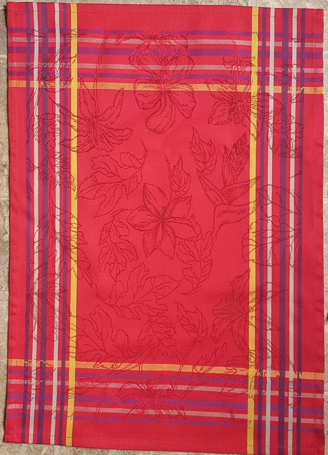 Tropical Tea Towel (Red)