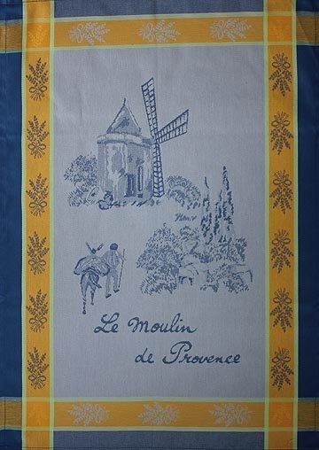 Tissage du Soleil Windmill tea towel (blue)