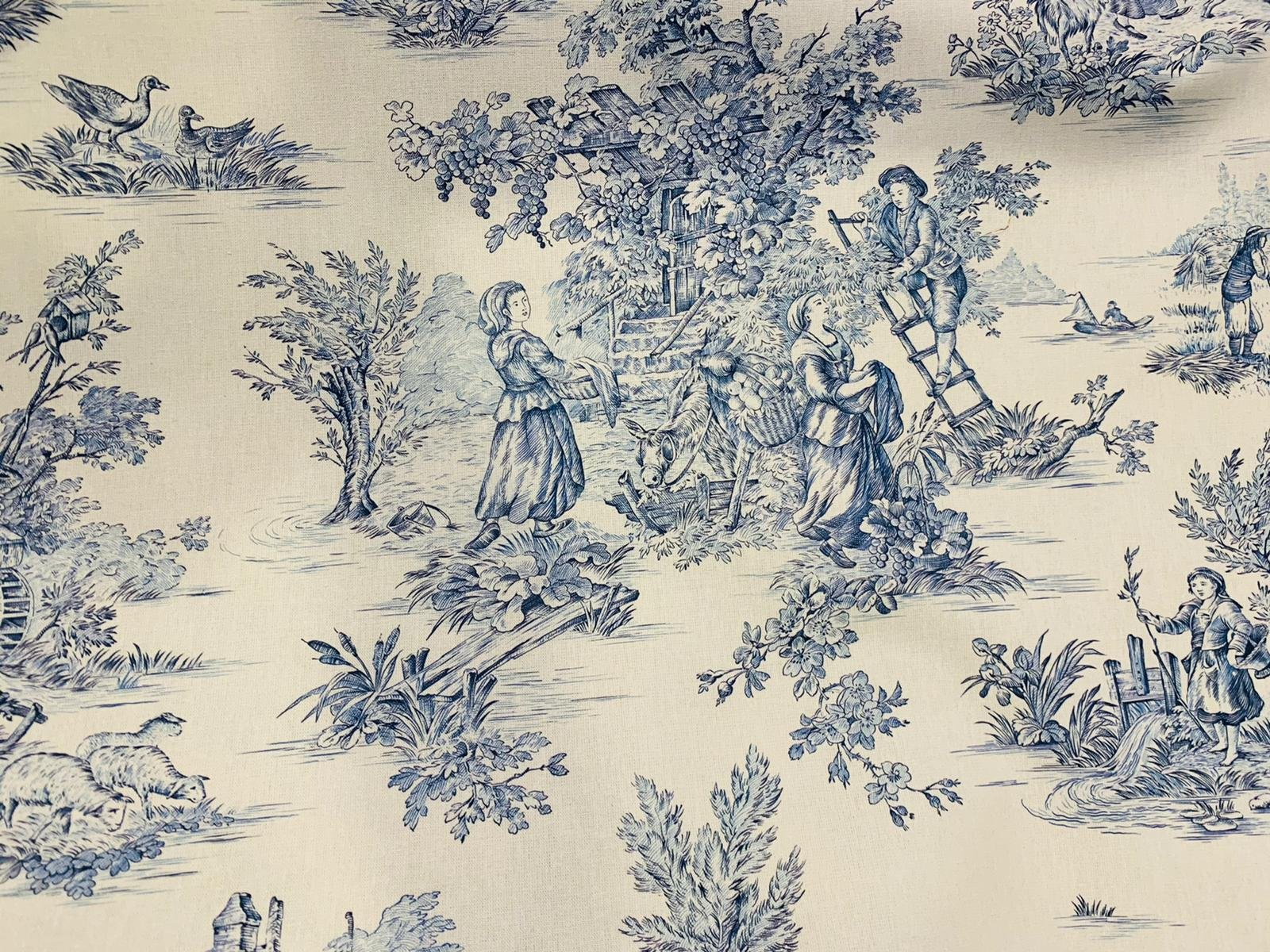Blue Pastoral French toile #002