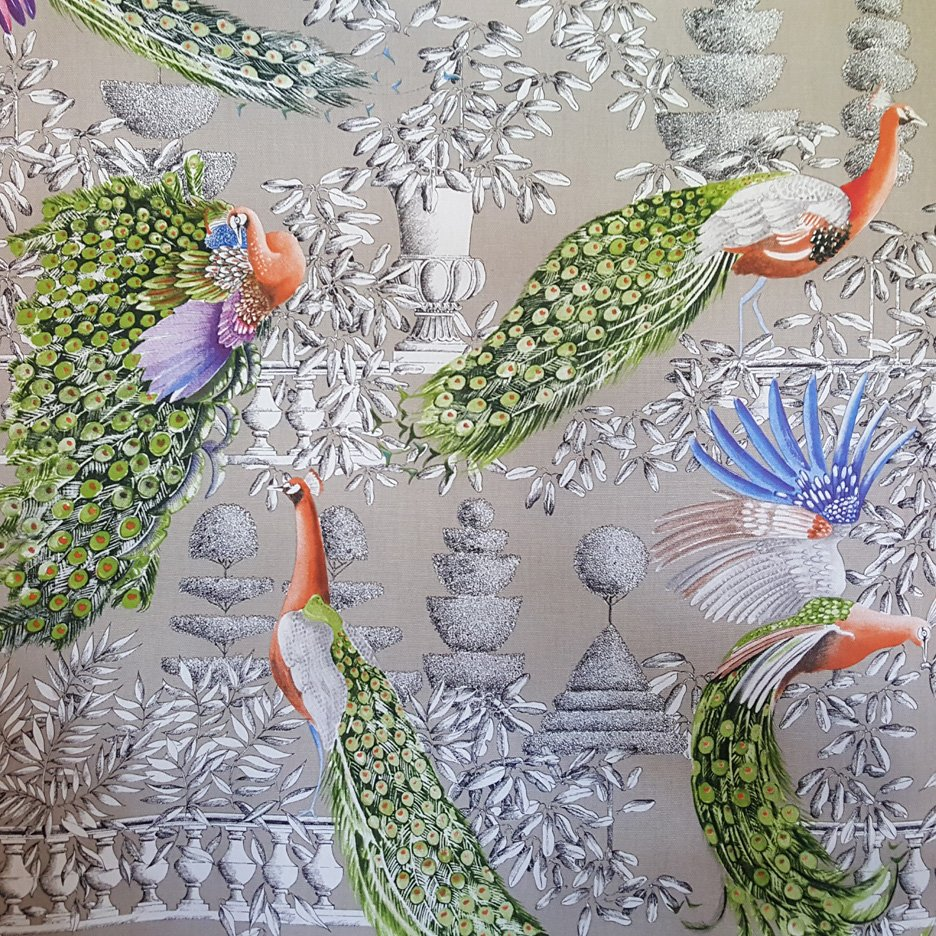 Marvelous Garden Drapery fabric by Thevenon