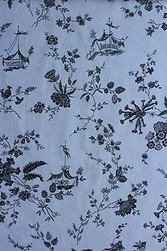 Black Tonkin toile fabric