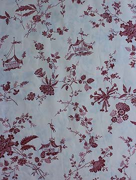 Red Tonkin toile fabric
