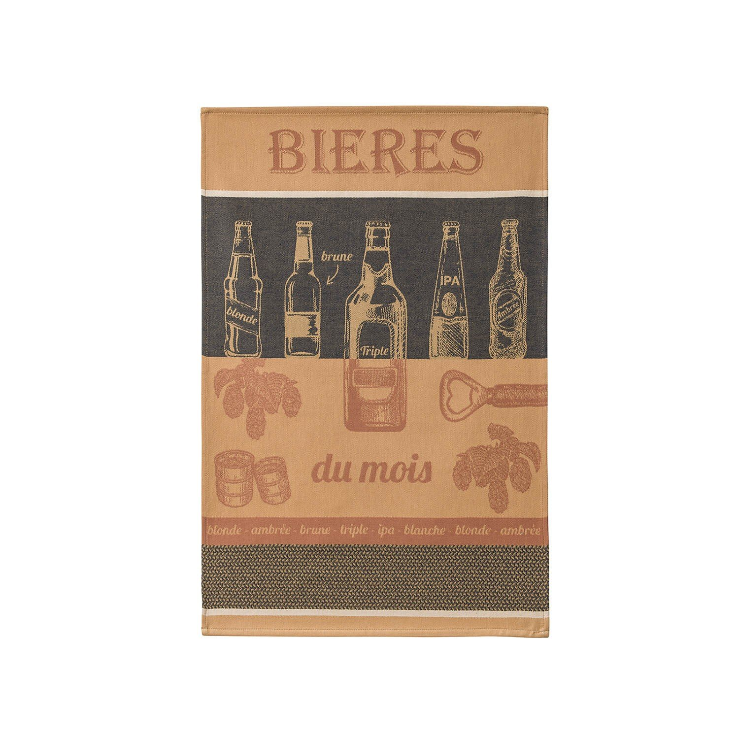 Coucke Beer of the Month tea towel