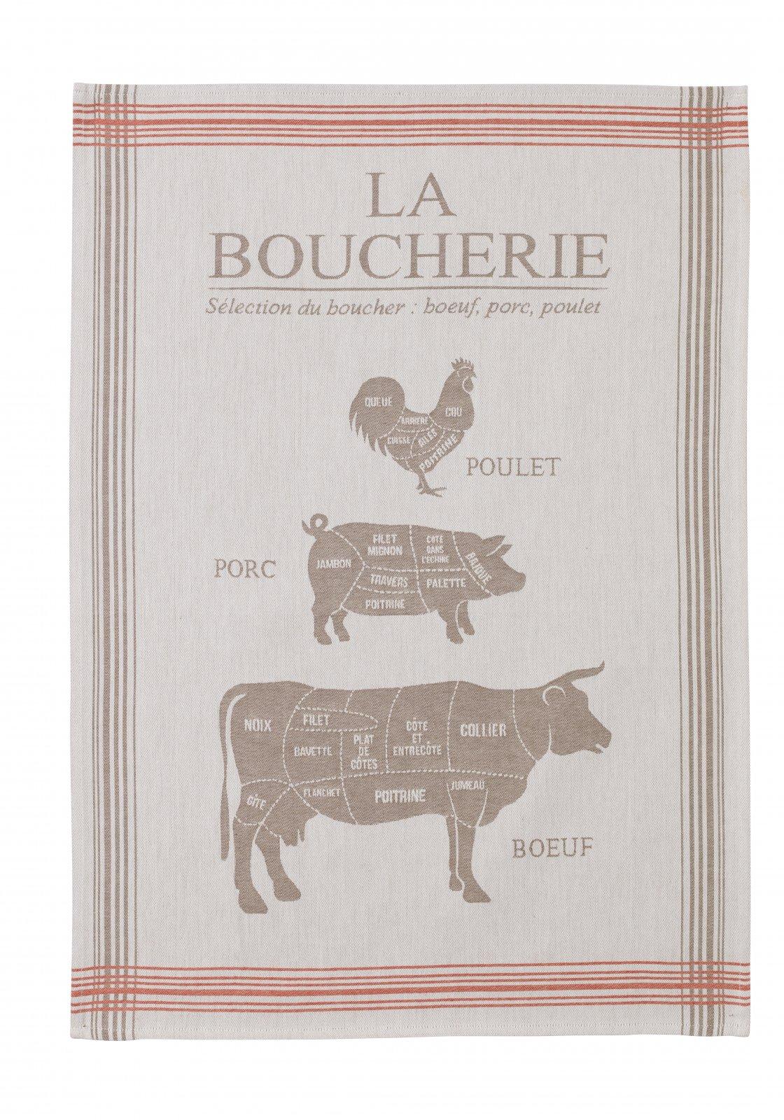 Coucke Butcher Shop tea towel #1