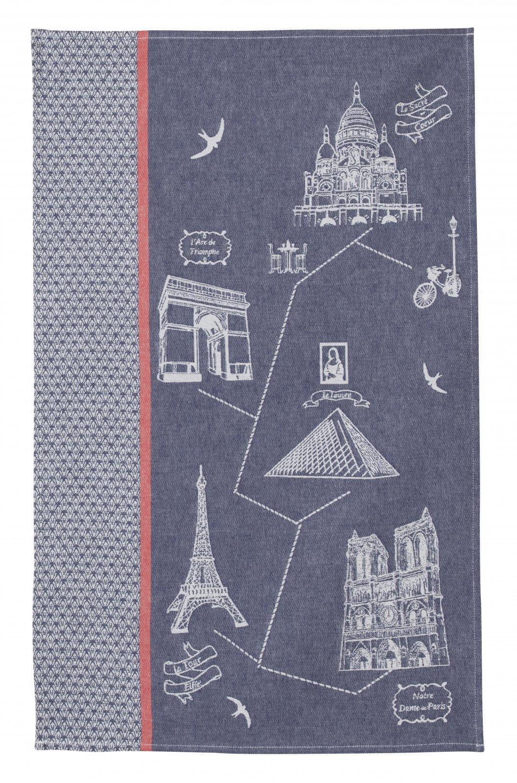 Coucke Paris Monuments tea towel #1