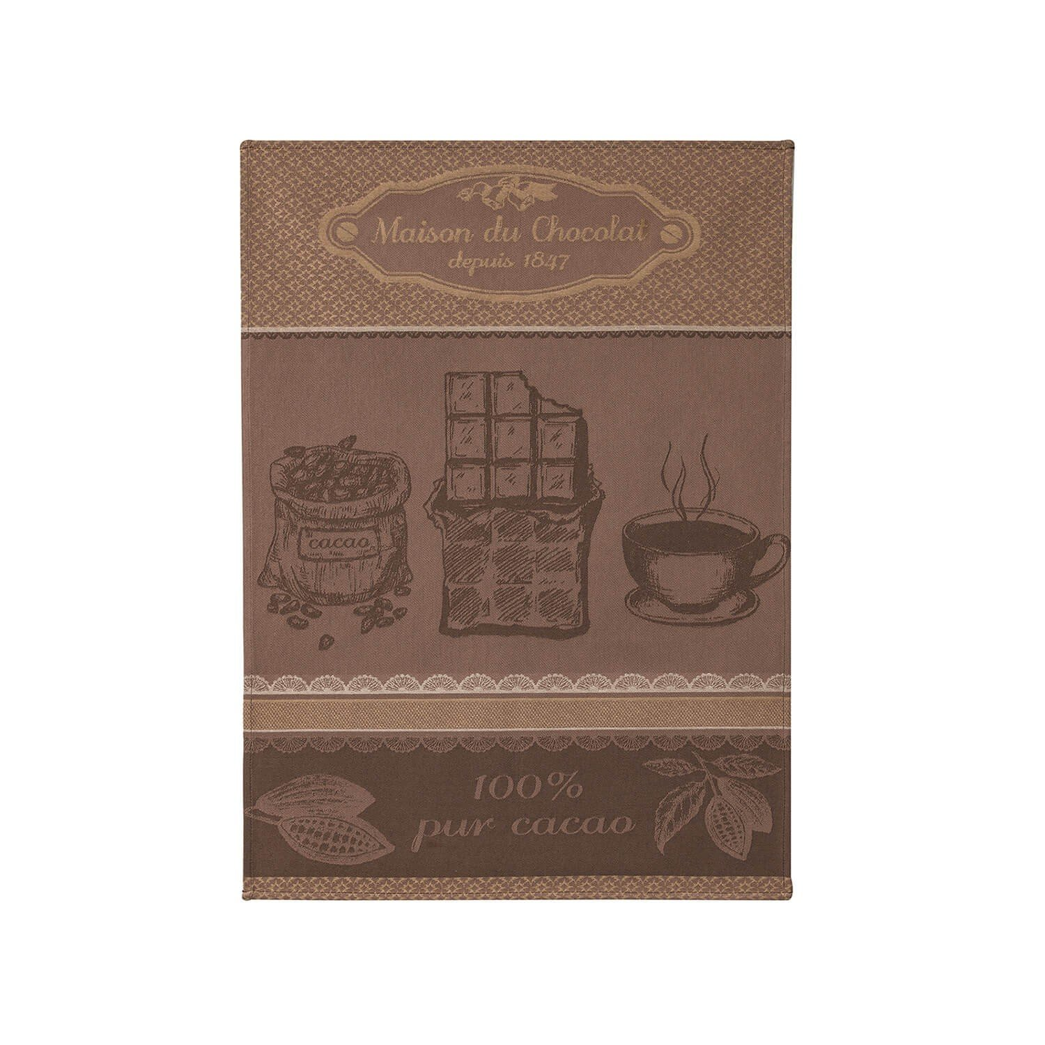 Coucke House of Chocolate tea towel