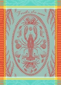 Garnier-Thiebaut French Shellfish tea towel