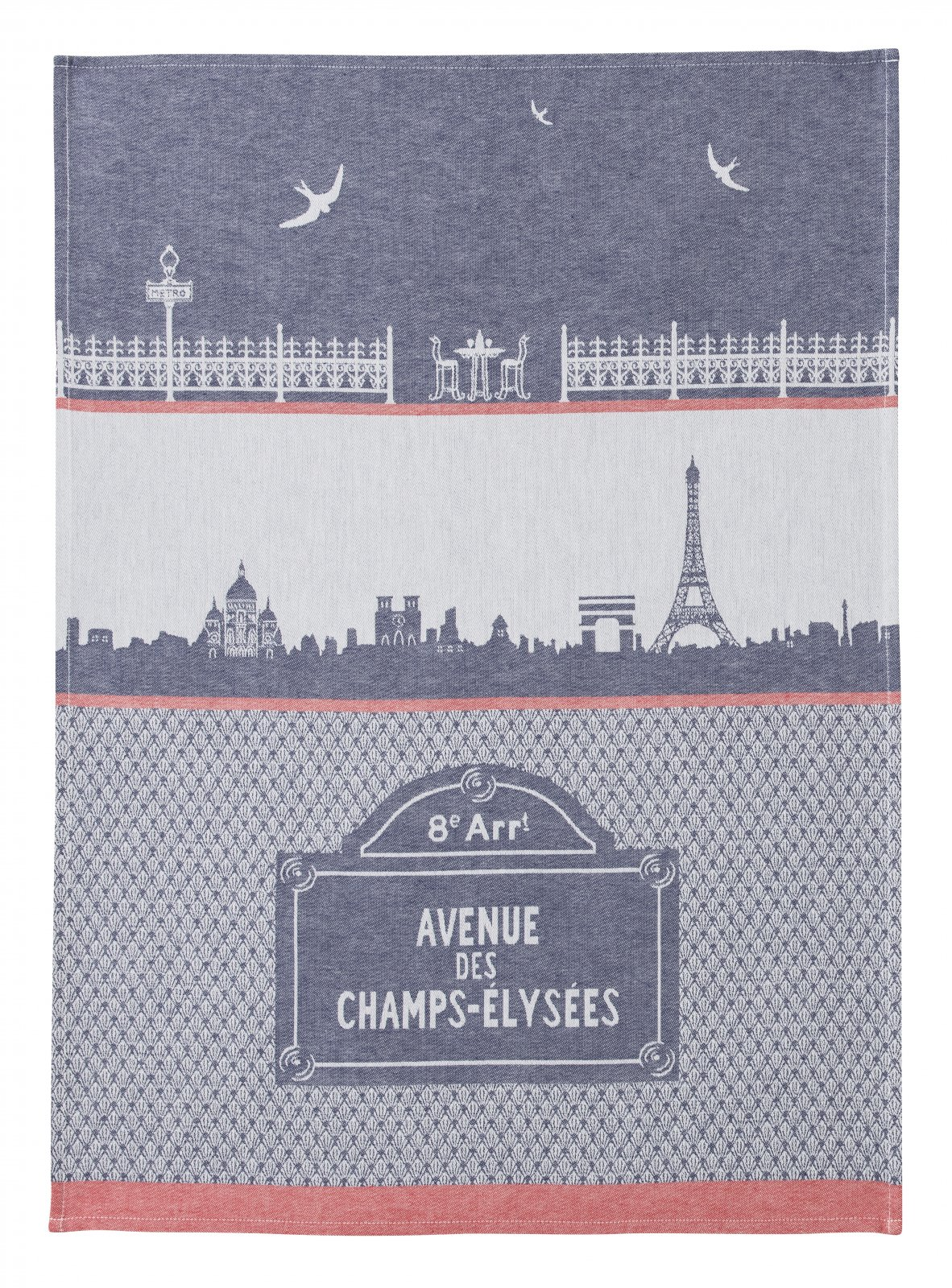 Coucke Paris Monuments tea towel #2