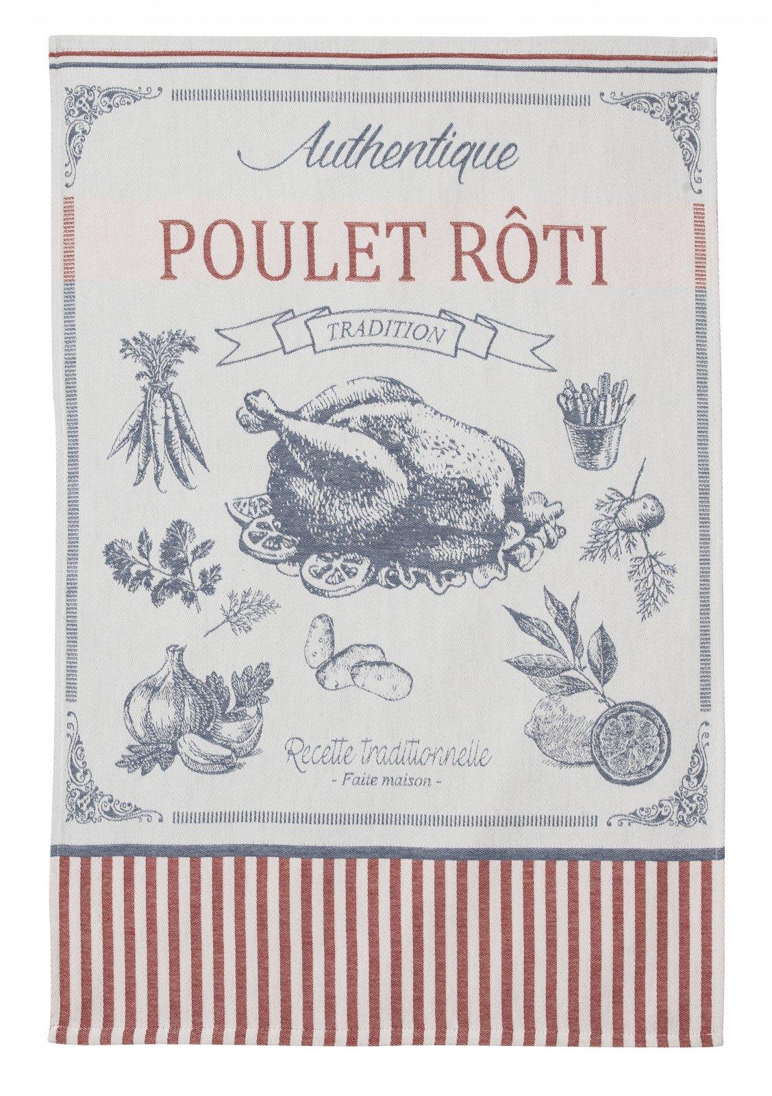 Coucke Poulet Roti tea towel
