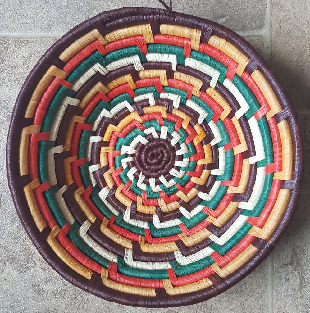 10 Uganda Multicolored Basket #012