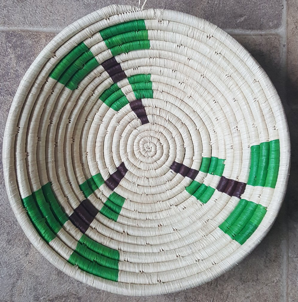 10 Uganda Basket with Green #013