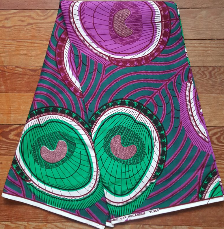 Vlisco Wax Block printed fabric #900