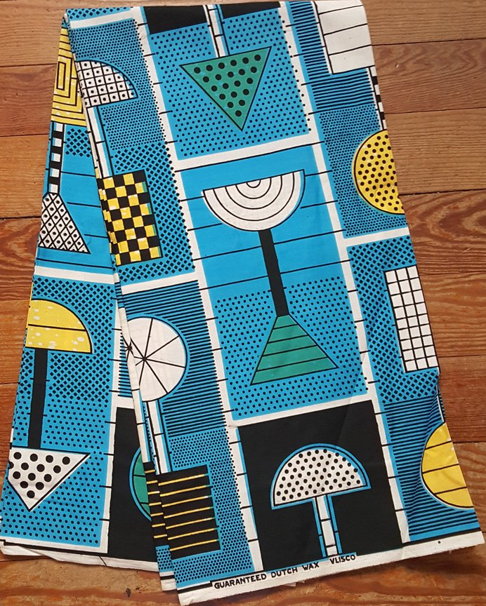 Vlisco Wax Block printed fabric #909