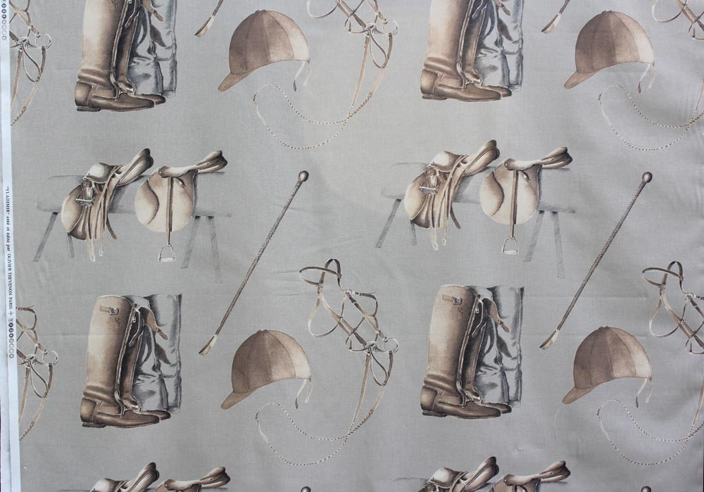French Riding Boots Drapery Fabric #33
