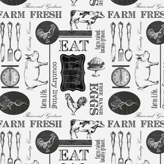 8345 01Farm to Table / White-Blk Images