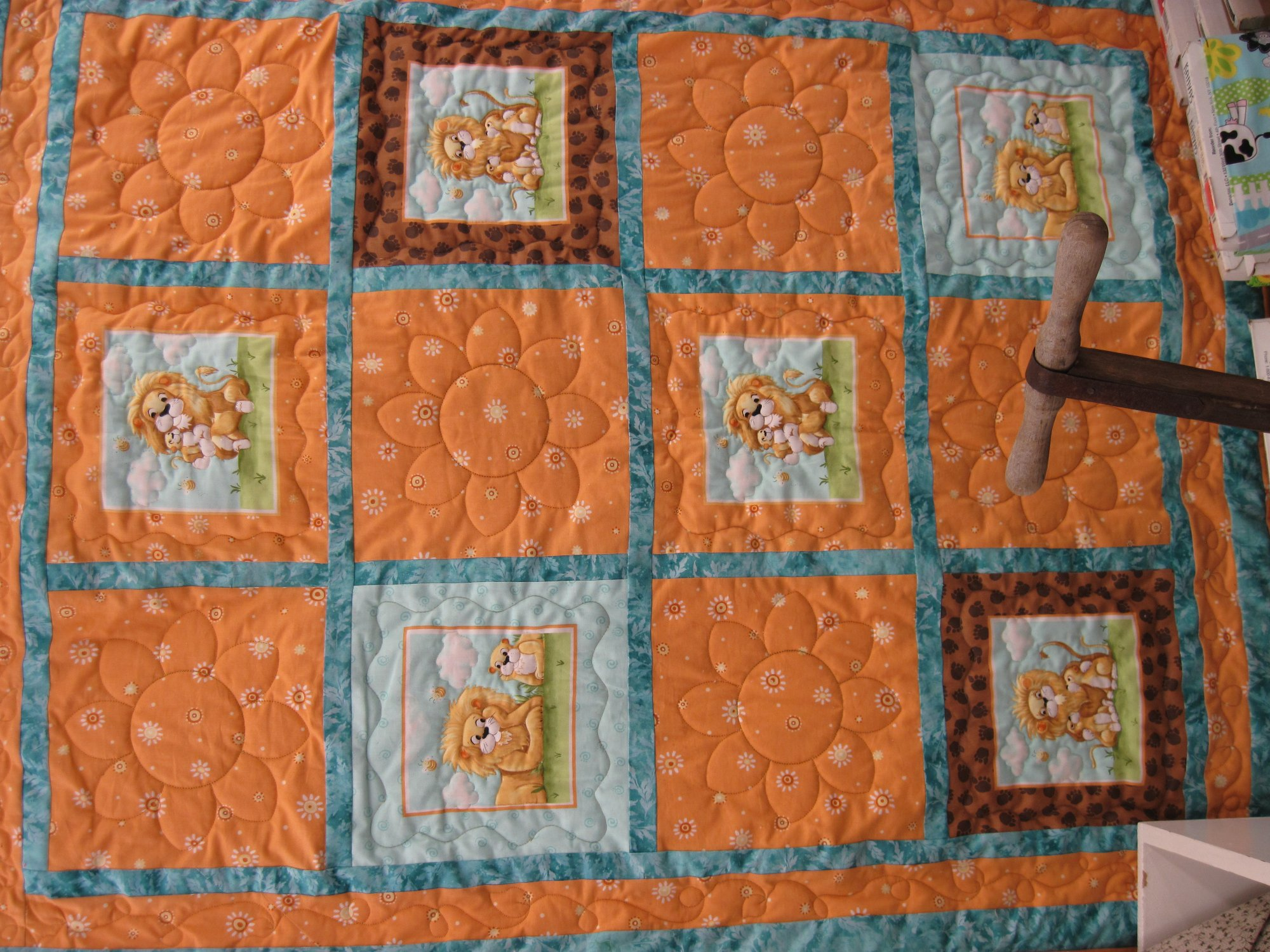 Lyon the Lion 3yd quilt 2 Green