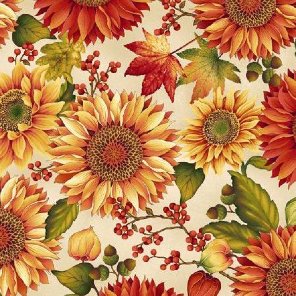 Henry Glass Autumn Album Sunflowers  #2018-44