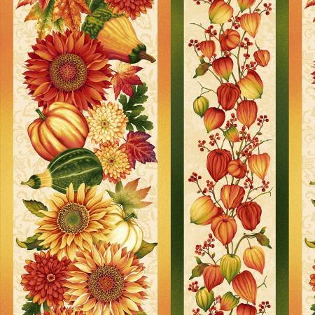 Henry Glass Autumn Album Border Stripe #2022-44