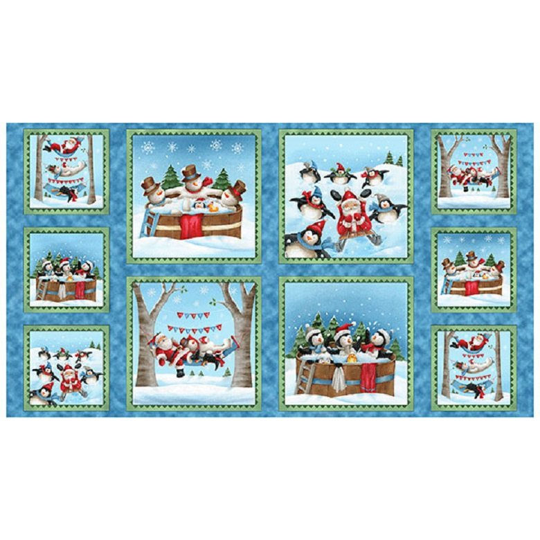 Quilting Treasures Just Chillin Christmas Panel  #25812-B