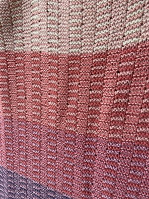 Stroller Blanket in Dulcet and Corsica