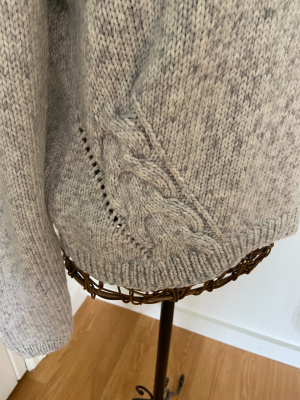 Cabled Sweater #8268 in No. 1 Aran Stonewashed