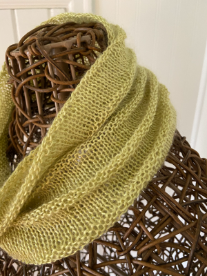 Simple Yet Effective cowl in Silk Fog