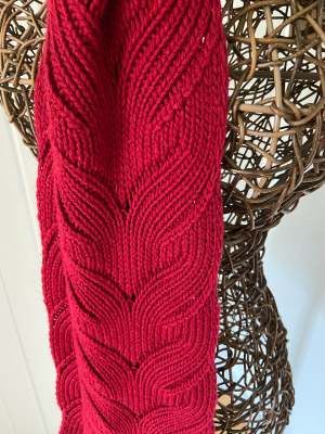 Mock Cable Scarf in Venezia