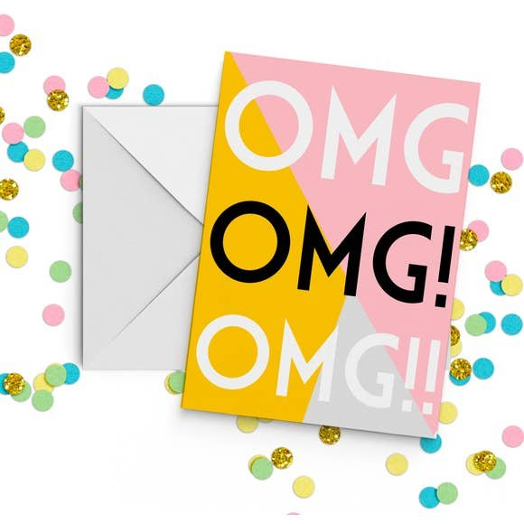 fun club OMG! greeting card