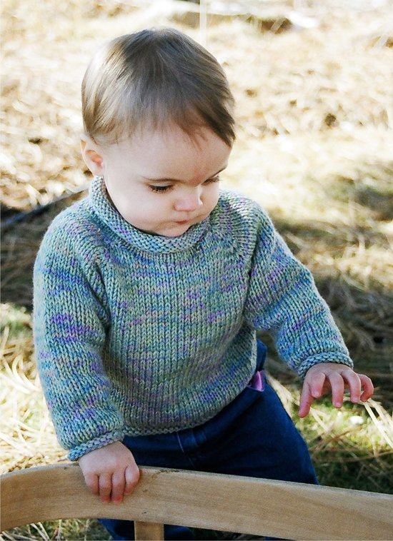 knitting pure & simple #214 baby pullover