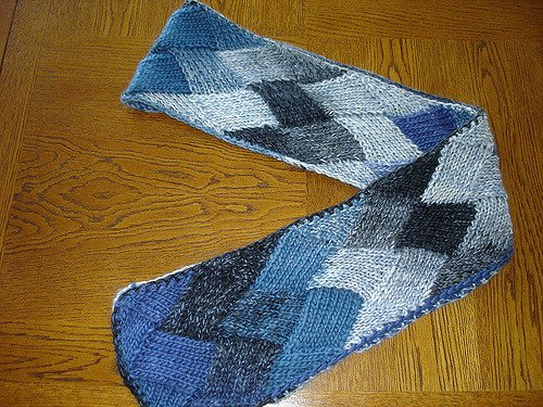 knot another hat entrelac scarf (.pdf download)