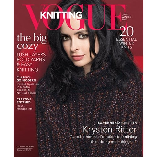 vogue knitting, late winter 2018