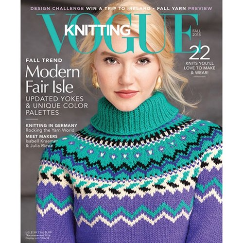 vogue knitting, fall 2018