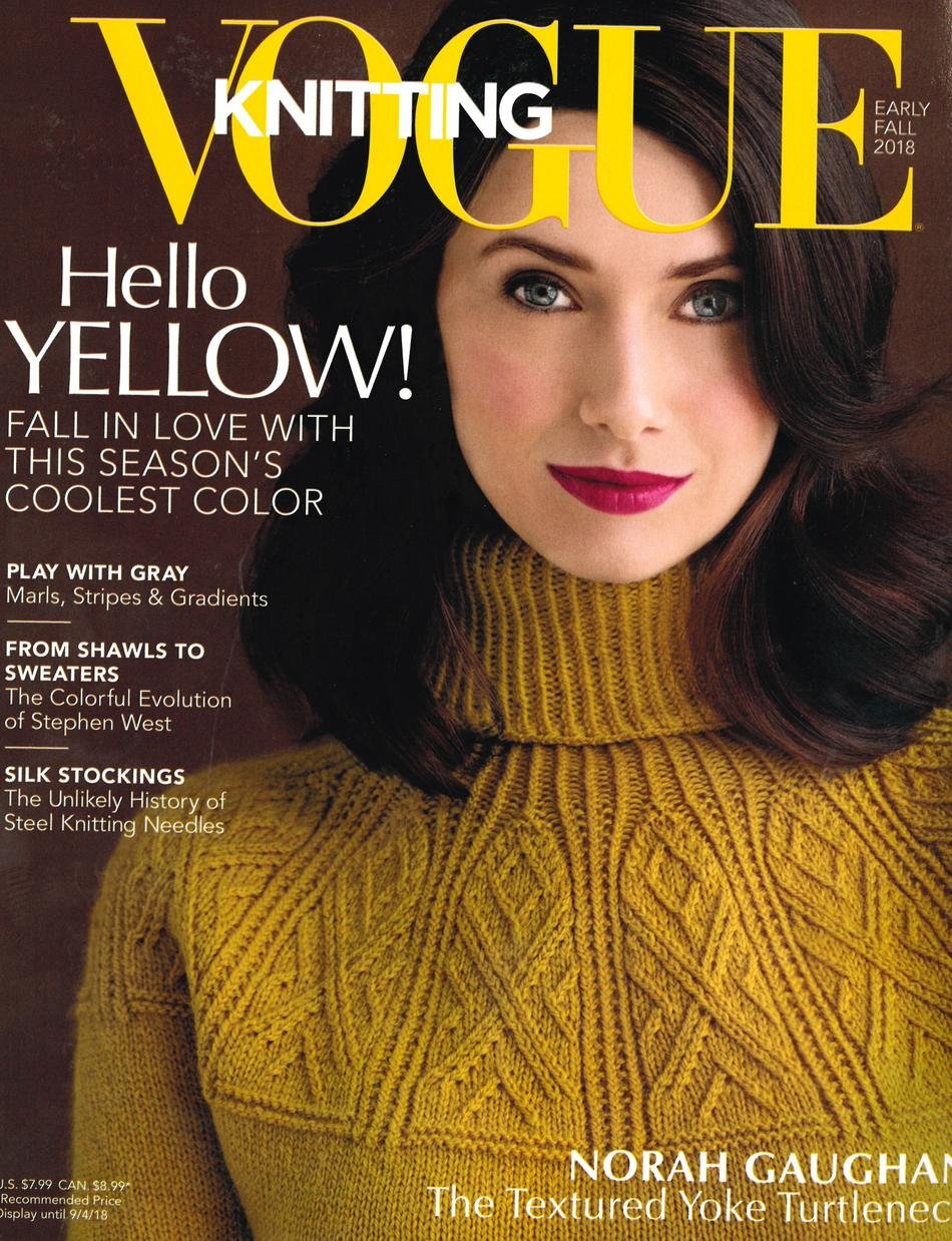 vogue knitting, early fall 2018