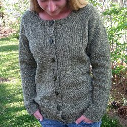 knitting pure & simple #278 scoop neck cardigan