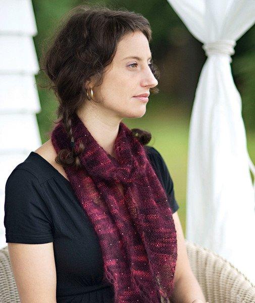 churchmouse beaded mohair scarf