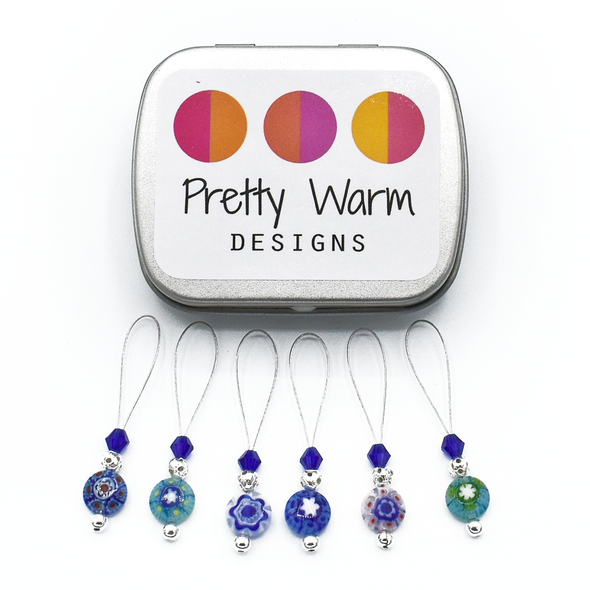 pretty warm stitch markers